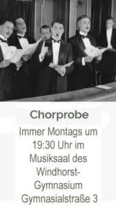 Chorprobe des Städt. Musikvereins Meppen